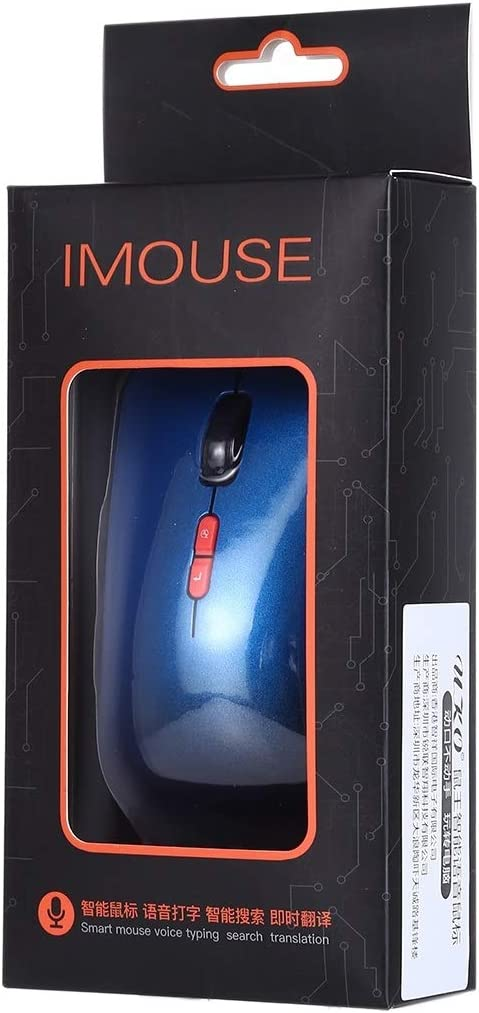 2.4GHz USB Charging Wireless Smart Mouse Support Voice Typing /& Smart Search /& Real-time Translation /& Voice Assistant Durable Color : Blue