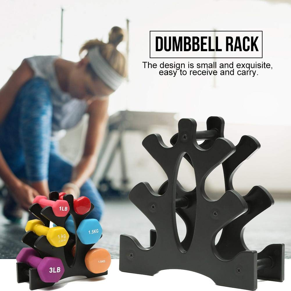 foreverwen 3-Tier Steel Dumbbell Rack,Dumbbell Storage Rack Stand,Compact Dumbbell Rack Free Weight Stand for Multilevel Hand Weight Tower Stand for Gym Organization Elegant