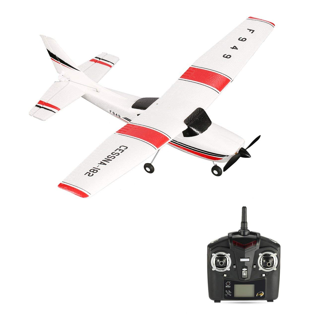 WLtoys F949 3CH 2.4GHz RC Airplane Fixed Wing RTF CESSNA-182 Plane Drone Toy WOSOSYEYO