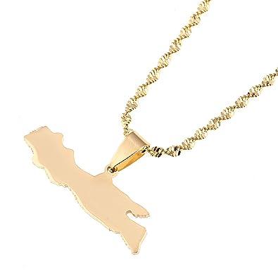 Amazon.com: CB joyas de oro acero inoxidable Java Island ...