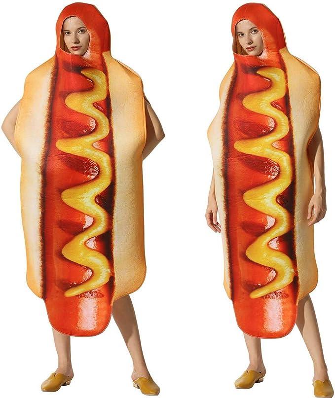 KIMODO Disfraz tridimensional de Hot Dog 3D Vestidos de Halloween ...
