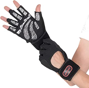 Sports Weight Lifting Gym Gloves Training Fitness Exercise Wrist Wrap Glove Fast