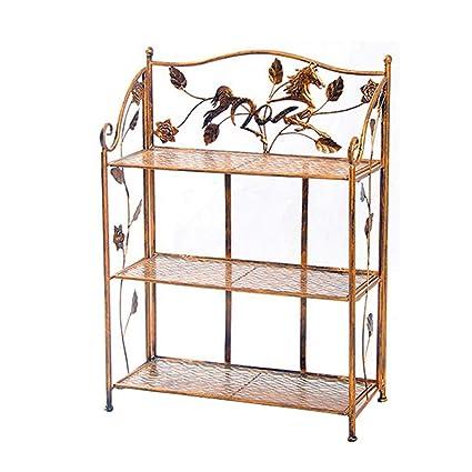 Amazon.com: Perchero de hierro forjado con marco de flores ...