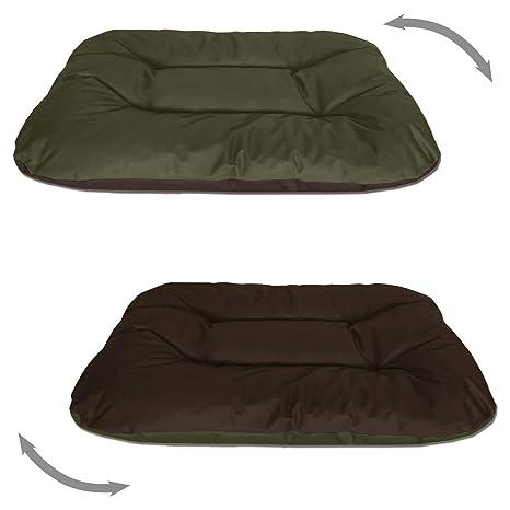 BedDog Rex 2en1 Negro/Beige XXL Aprox. 120x100x14cm colchón para Perro, 9 Colores, Cama, sofá, Cesta para Perro