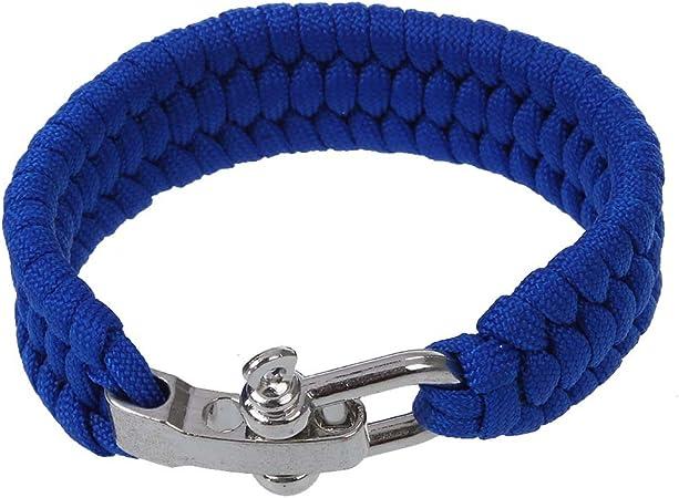 SODIAL(R) 7 Strand Supervivencia Militar pulsera de la cuerda de la armadura de la hebilla - Azul: Amazon.es: Hogar