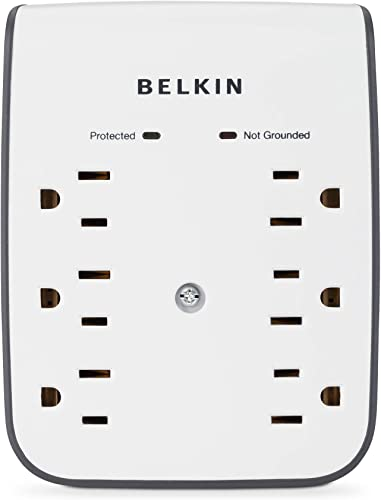 Belkin 6-Outlet Wall Mount Surge Protector with Dual USB Ports 1 AMP 5 Watt