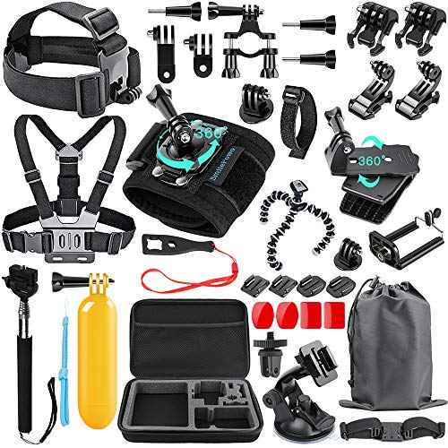 SmilePowo 48-in-1 Accessories Kit for GoPro Hero 8 Max 7 6 5 4 3...