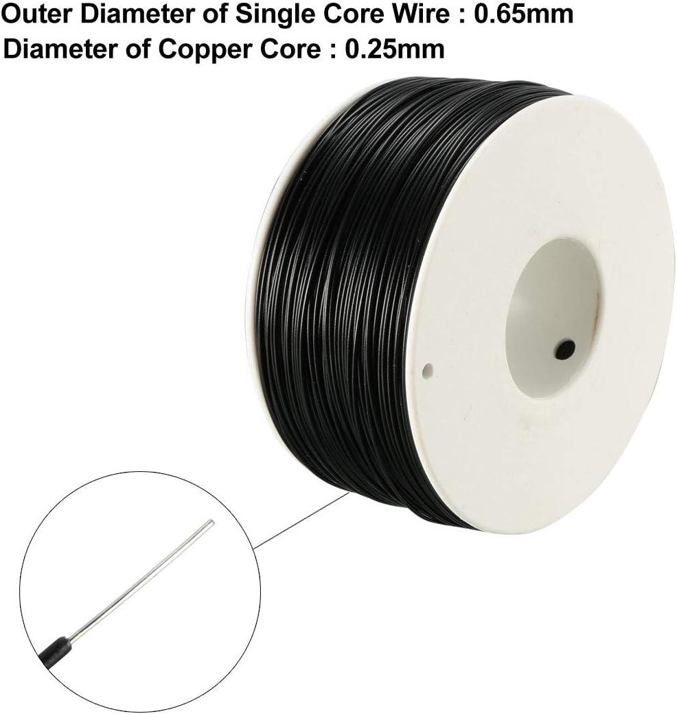 sourcing map 3 pcs r/étractable fil fil cuivre /étam/é P//N DM-30-1000 30 AWG 6m long
