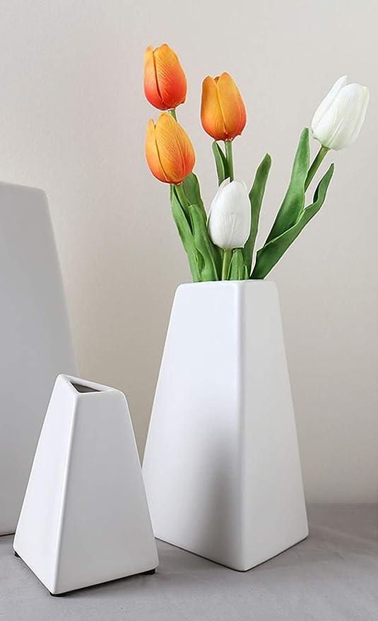 Amazoncom Moderne Chateau White Ceramic Geometric Vases For
