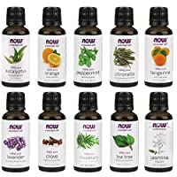 NOW Foods Essential Oils 10-Oil Variety Pack Sampler - 1oz Each