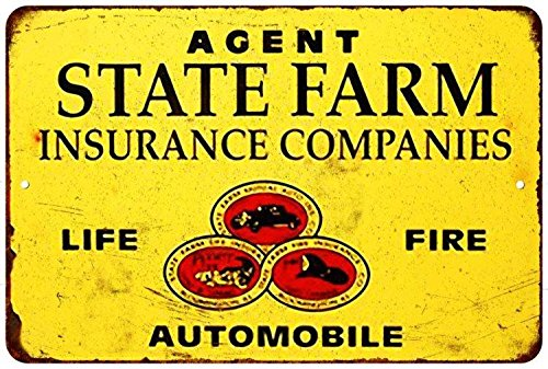 State Farm Insurance Companies Vintage Look Reproduction 8X12 Metal Sign 8121537