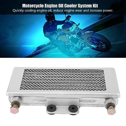 KIMISS Kit de sistema de Enfriamiento de aceite del enfriador de aceite del Motor de aluminio 125 ml para100CC-150CC(plata): Amazon.es: Coche y moto