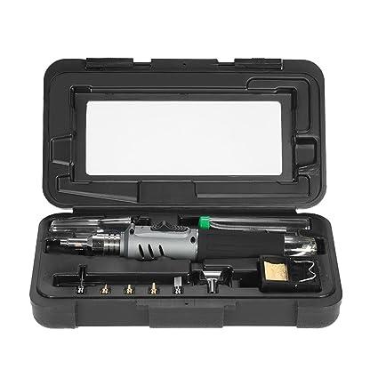 KKmoon 10 en 1-butano estilo de lápiz profesional del soldador del gas del kit