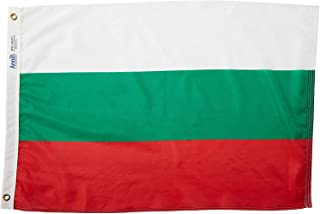 product image for Annin Flagmakers Model 190910 Bulgaria Flag Nylon SolarGuard NYL-Glo, 2x3 ft, 100% Made in USA to Official United Nations Design Specifications