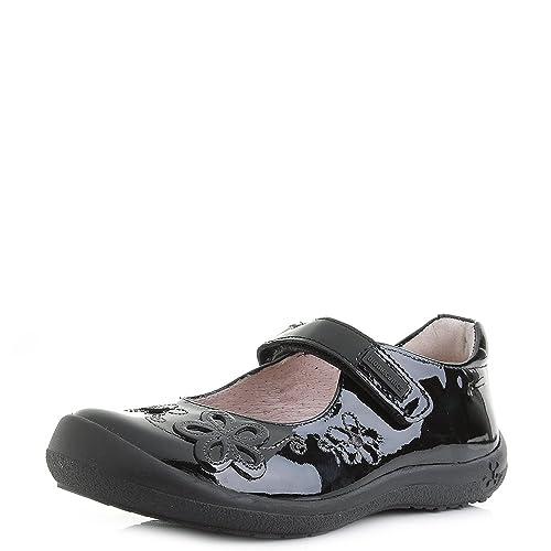 0dd7fa84bfe1 Garvalin Girls Kids Mary Jane Biomecanics Black Patent Leather School Shoes  Size 9