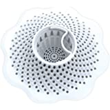 Danco Bathtub Drain Hair Catcher Snare and Strainer, White, 1-Pack (10306)