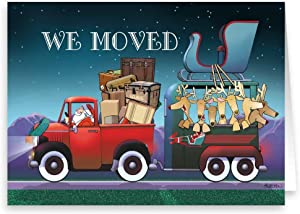 We Moved/New Address Holiday Card 18 Cards & Envelopes - Funny New Address Cards (Standard)