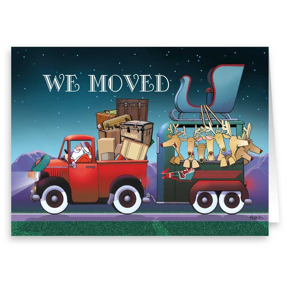 Amazon.com: New Address/We\'ve Moved Holiday Card 18 Cards ...