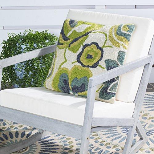 Safavieh PPL101B-2020-SET2 Collection Jacobean Floral Lime Indoor/Outdoor Throw Pillows (20