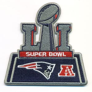 New England Patriots - Atlanta Falcons Super Bowl 51 Football NFL Embroidered Iron On Patches Hat Jersey 4x4""