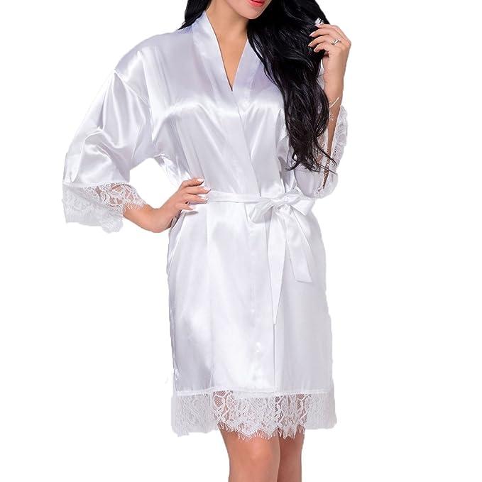ArtiDeco Donna Kimono Vestaglia Raso Kimono Vestaglia Lunga Cinese Giapponese
