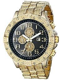 Joshua & Sons Men's JS78YG Swiss Quartz Multifunction Black Dial Gold-Tone Bracelet Watch