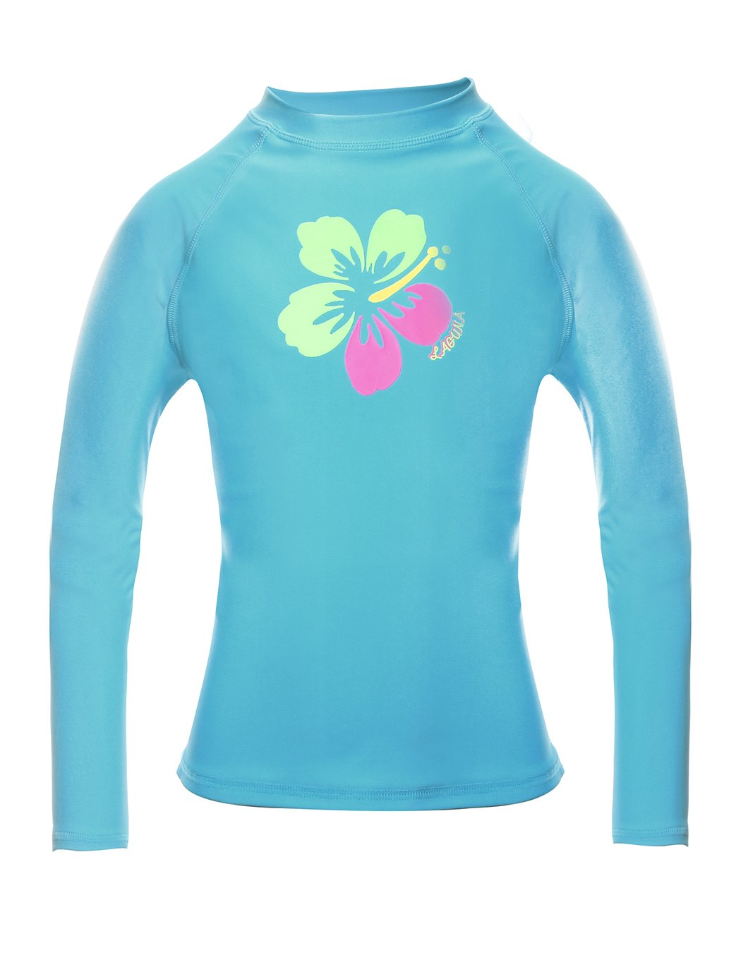 iDrawl Long Sleeve Rash Guard High Neck Surf Swim Shirt UPF 50+ Sun Protection Basic Kids Rashguard Shirt