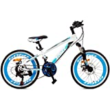 Bicicleta Niños Niñas Zonix MTB Astro Boy 20 Pulgadas 21 Velocidad Blanco Azul 85% Montado