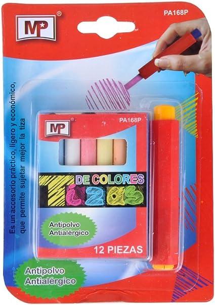 MP PA168P - Pack de 12 tizas de colores: Amazon.es: Oficina y papelería