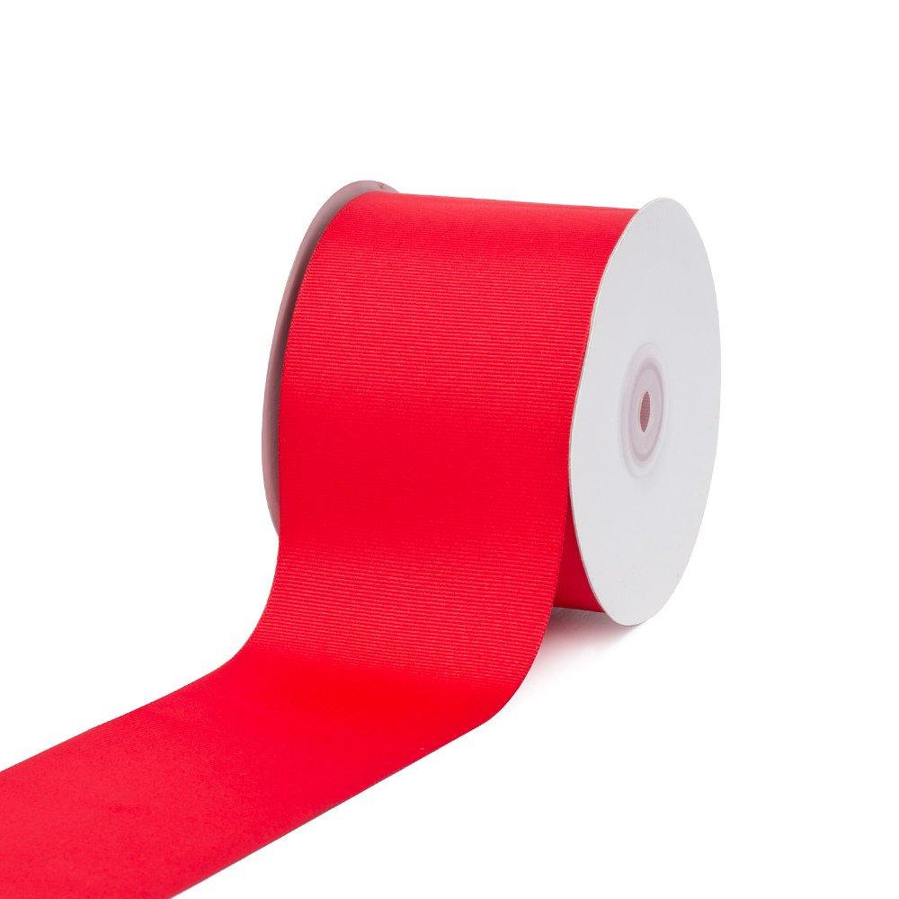 Creative Ideas 3 Solid Grosgrain Ribbon, 25 yd, Red GRO3000-250