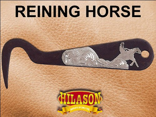 Reining Horse Hilason Western Steel Metal Fancy Horse Hoof Pick Antique Brown