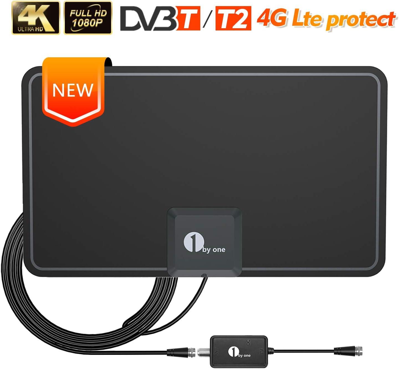 Antena de TV, 1byone Antena de HDTV para Interiores con excelente ...