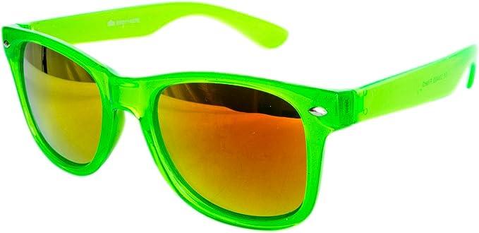 Neon Grün Transparent  Günstig Sonnenbrille Nerdbrille Nerd
