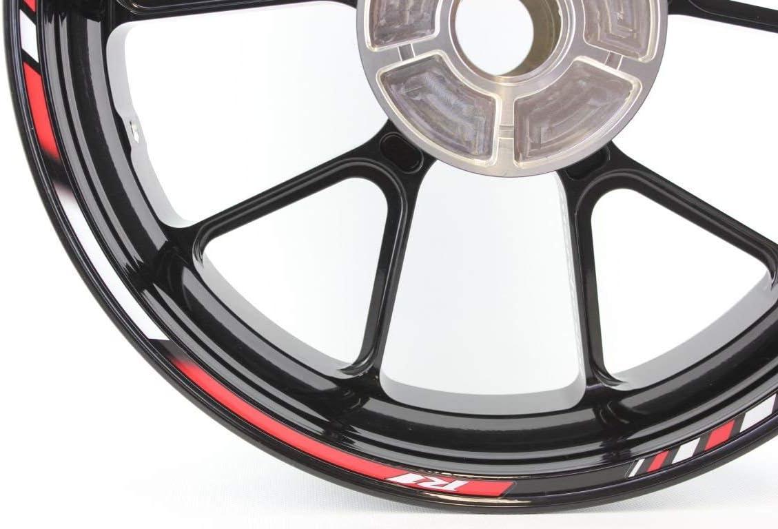 IMPRESSIATA Liserets de Jantes Autocollants Moto SpecialGP Rouge pour Yamaha YZF R1