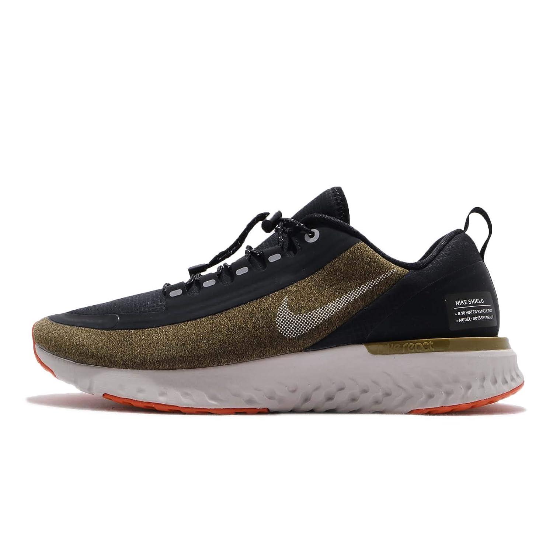 5b5c485eeb Amazon.com   Nike Men's Odyssey React Shield Running Shoe Olive/Silver/Black    Road Running