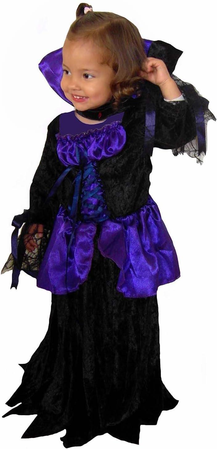 El Carnaval Disfraz Vampirina - Color: Lila y Negro - Terciopelo ...