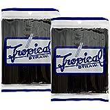 アートナップ ストロー ブラック トロピカル 200本×2セット(400本) 32150012