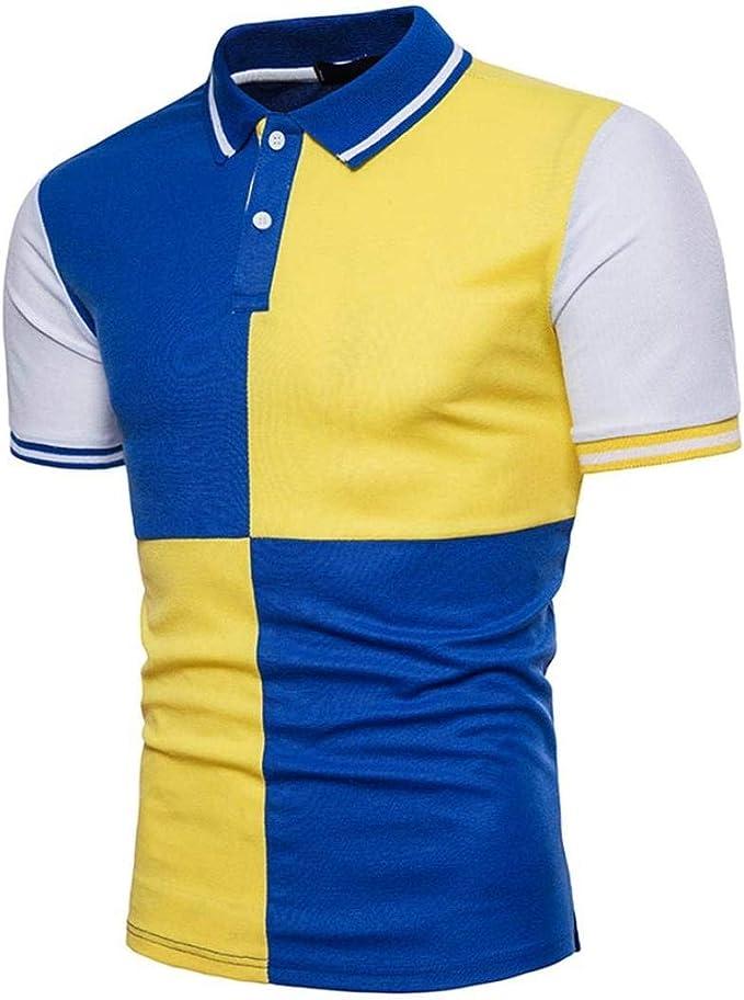 Polo Hombres Camisas De Polo De Retro Colores Mezclados De Moda ...