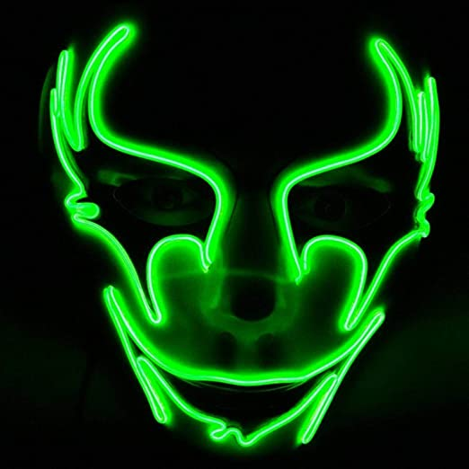 RTGFS Brillante LED Halloween máscaras Fiesta máscara Halloween ...