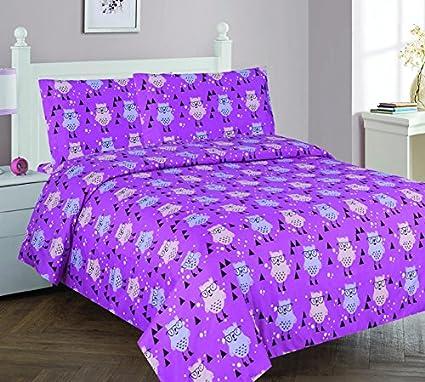 Amazon GorgeousHome OWL PINK Design Deluxe KidsTeens Girls Best Complete Bedroom Decor