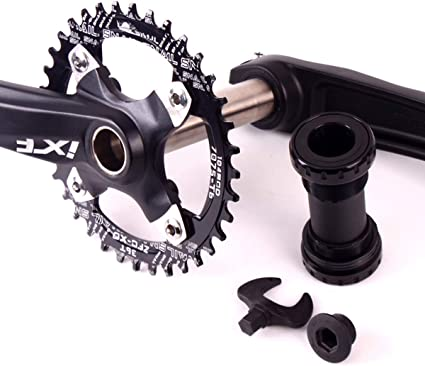 104BCD Aluminum MTB Bike Sprocket Crank Left /& Right 170mm Round Hole Crank /& BB