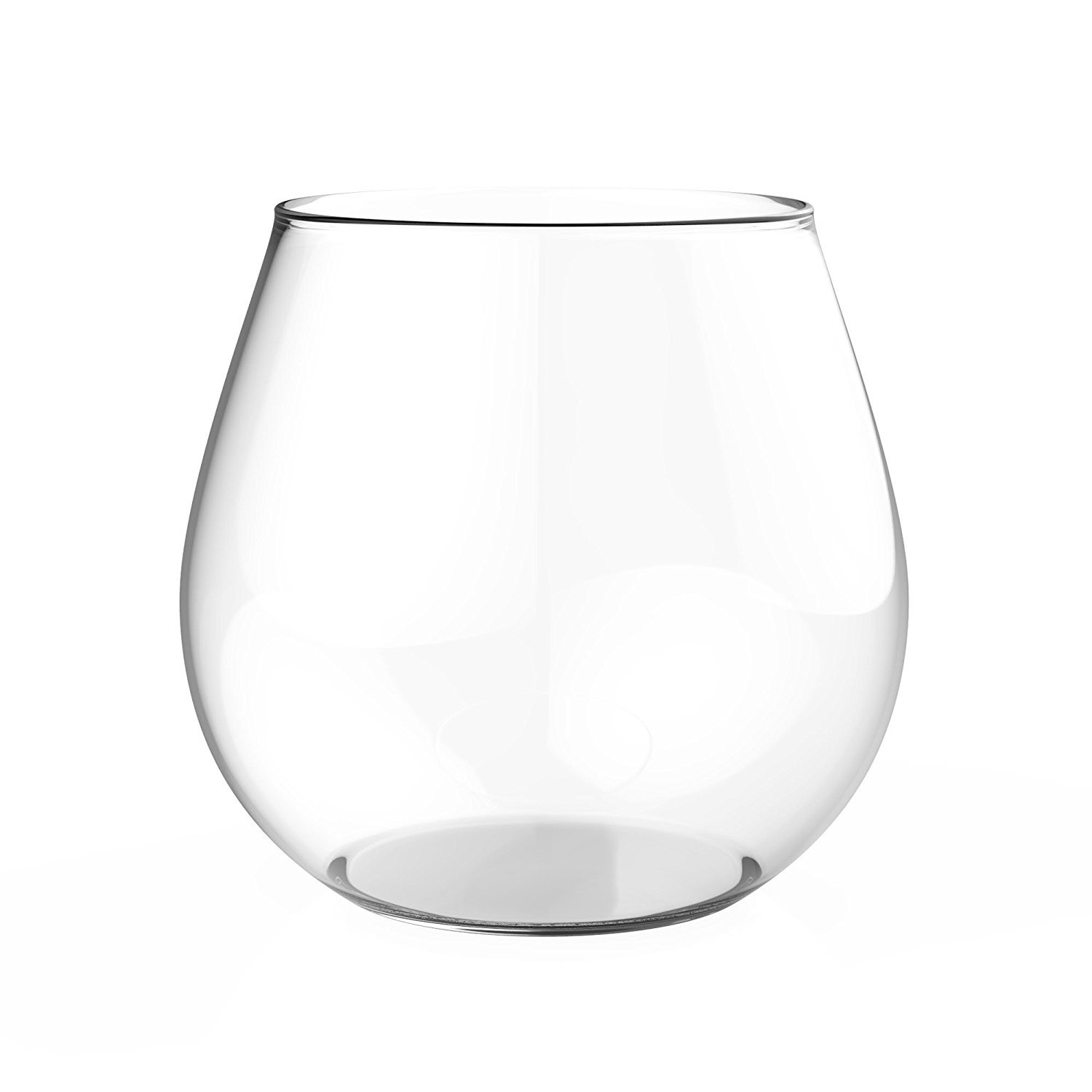 Zeppoli Wine Glass 4-Piece Set Stemless Clear Durable Glass