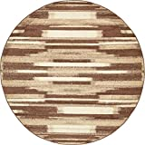 Unique Loom Autumn Collection Gradient Casual Warm Toned Brown Round Rug (8′ x 8′) For Sale