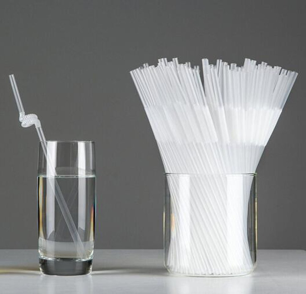 200PCS Disposable Plastic Long Flexible Drinking Straws Bendy Drink Straw Drinking Curved Pipet for Coffee Cocktails and Long Drinks (Black) erioctry
