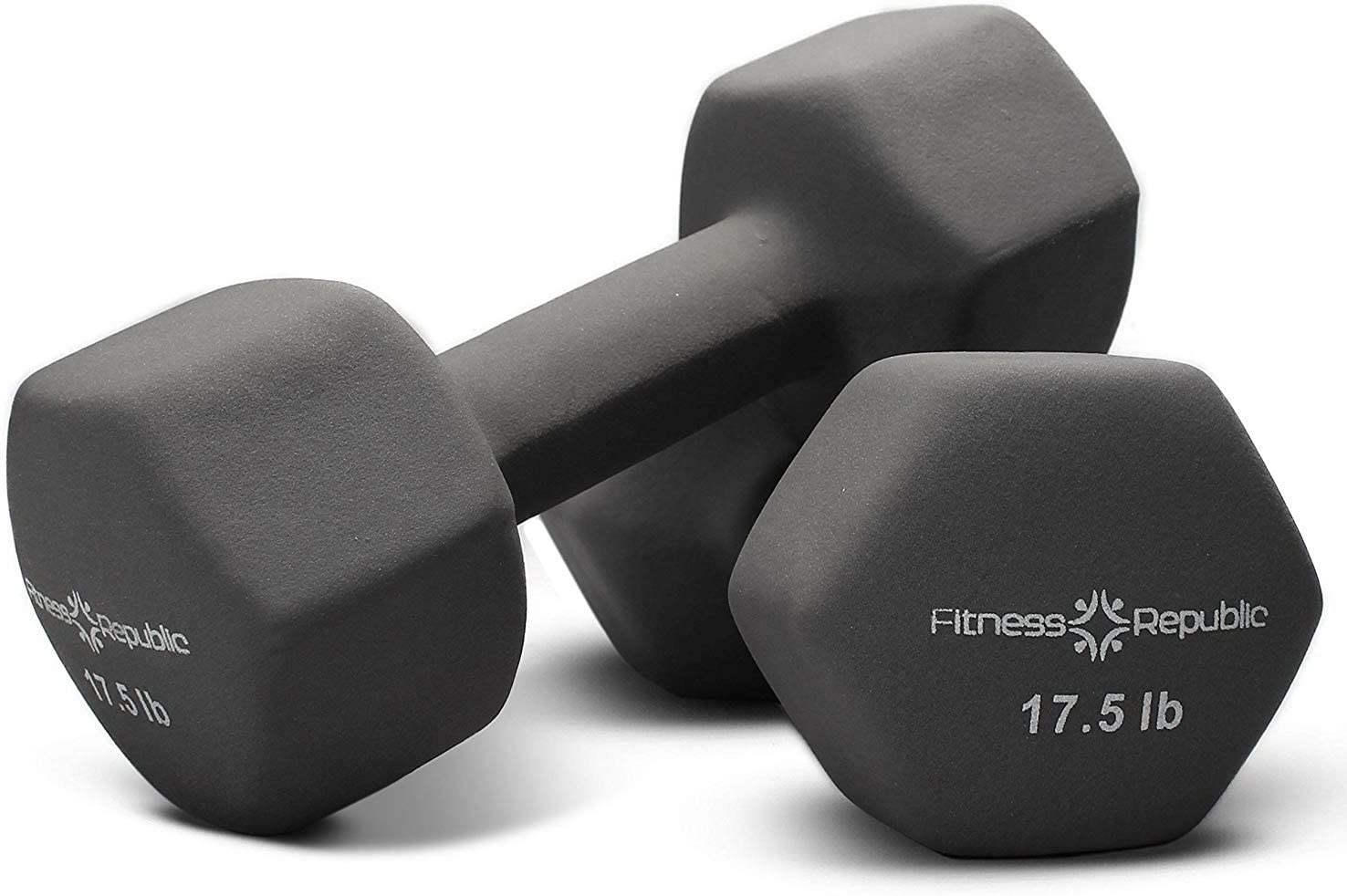 Fitness Republic Neoprene Dumbbell Set of 2, 2-20 Pounds Sets Non-Slip, Hex Shape, Free weights set for Muscle Toning, Strength Building, Weight Loss – Portable Weights for Home Gym Hand Weight