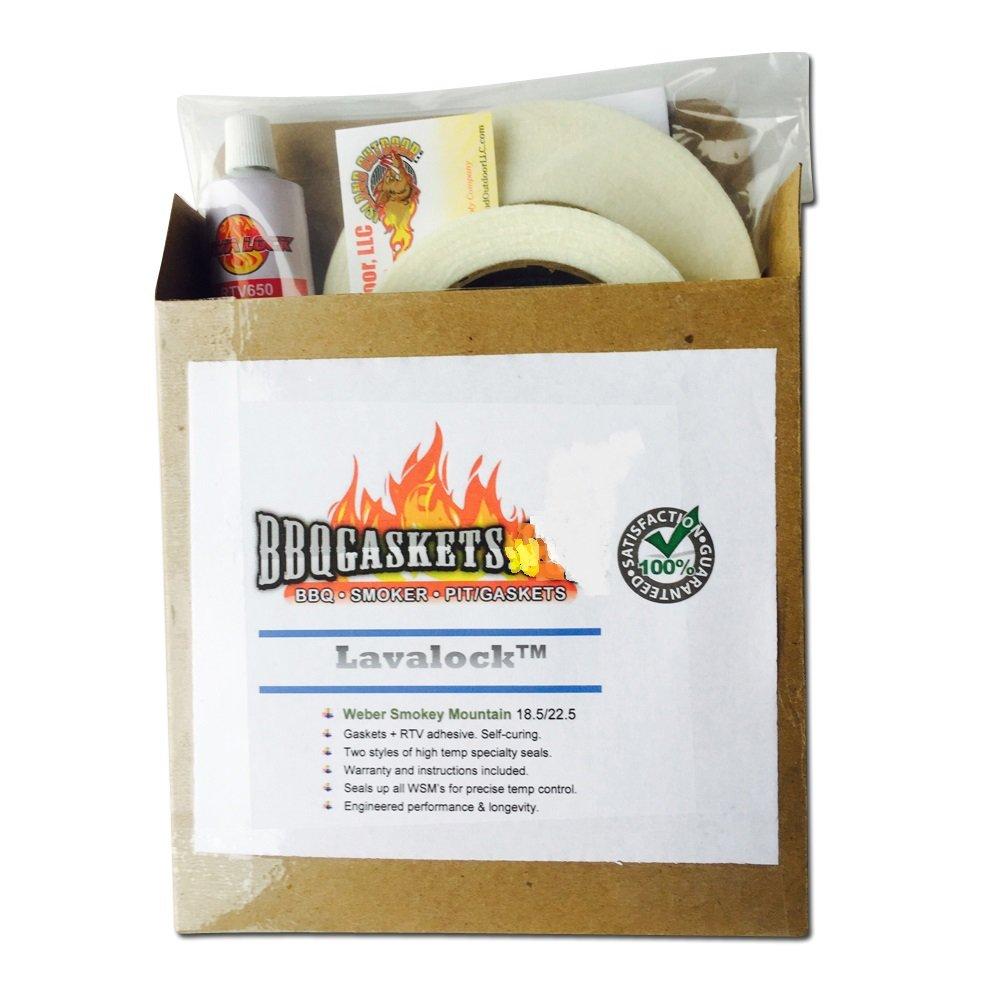 LavaLock Gasket Kit for Weber Smokey Mountain WSM 18.5 22.5 Nomex RTV Grill Gasket Seal
