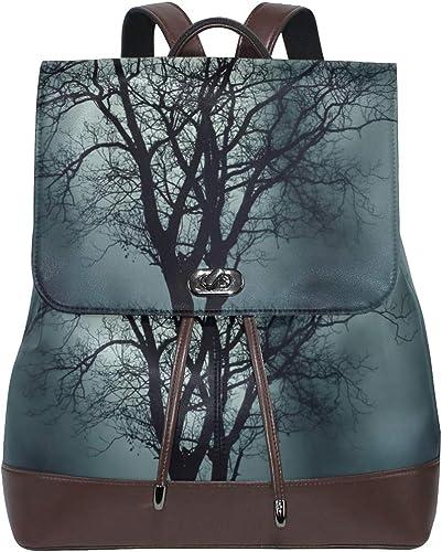 Ahomy Mochila antirrobo para mujer, diseño de árbol, color