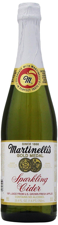 Martinelli's Gold Medal Sparkling Apple Cider Juice, 25.4 oz (4 Bottles)