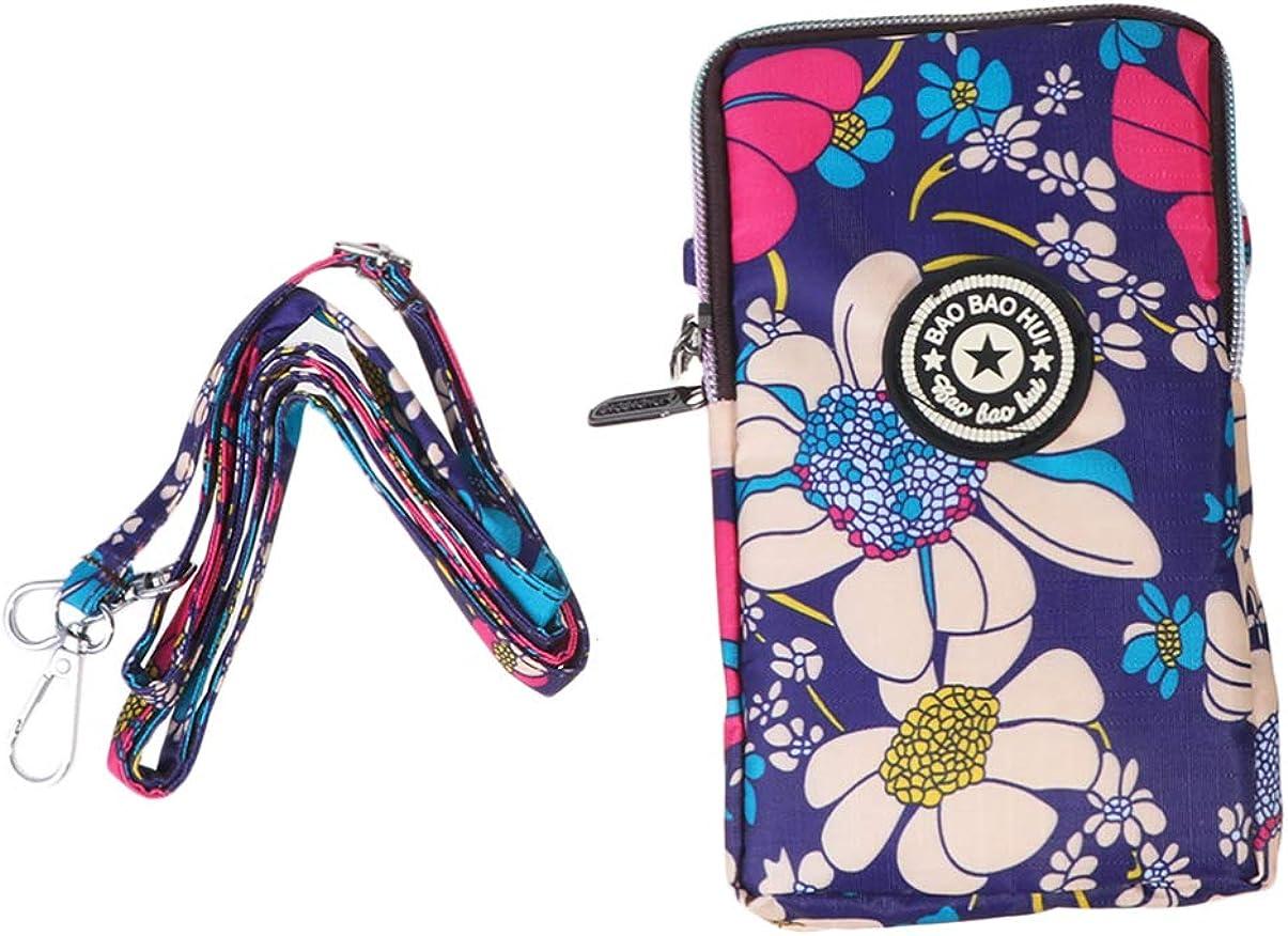 TENDYCOCO bolso de teléfono con cremallera para mujer bolso de moda soporte para teléfono con cuello bolsa para teléfono colgante para viajes de viaje de compras - azul