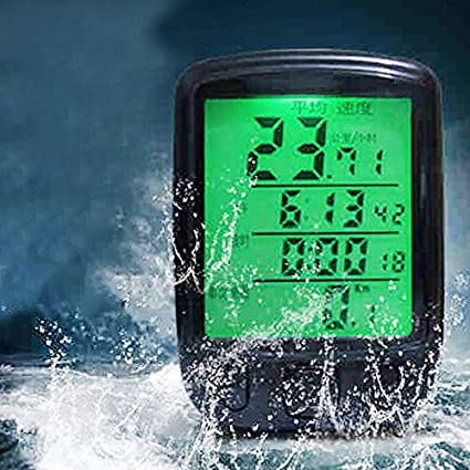 Adeeing Multifunction Wireless/Wired Waterproof Bicycle Stopwatch Speedometer Odometer